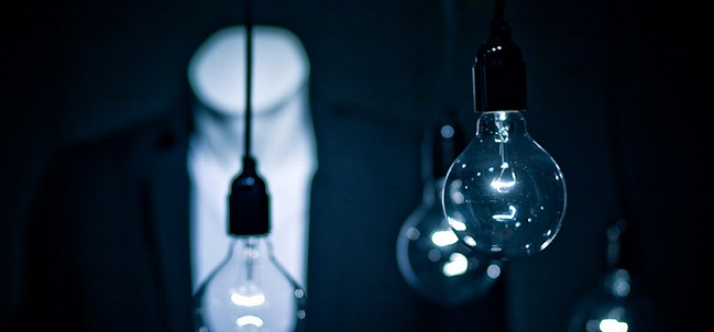 blown out lightbulbs