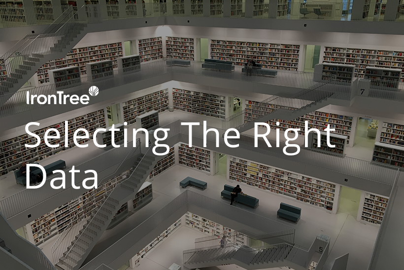 selecting the right data